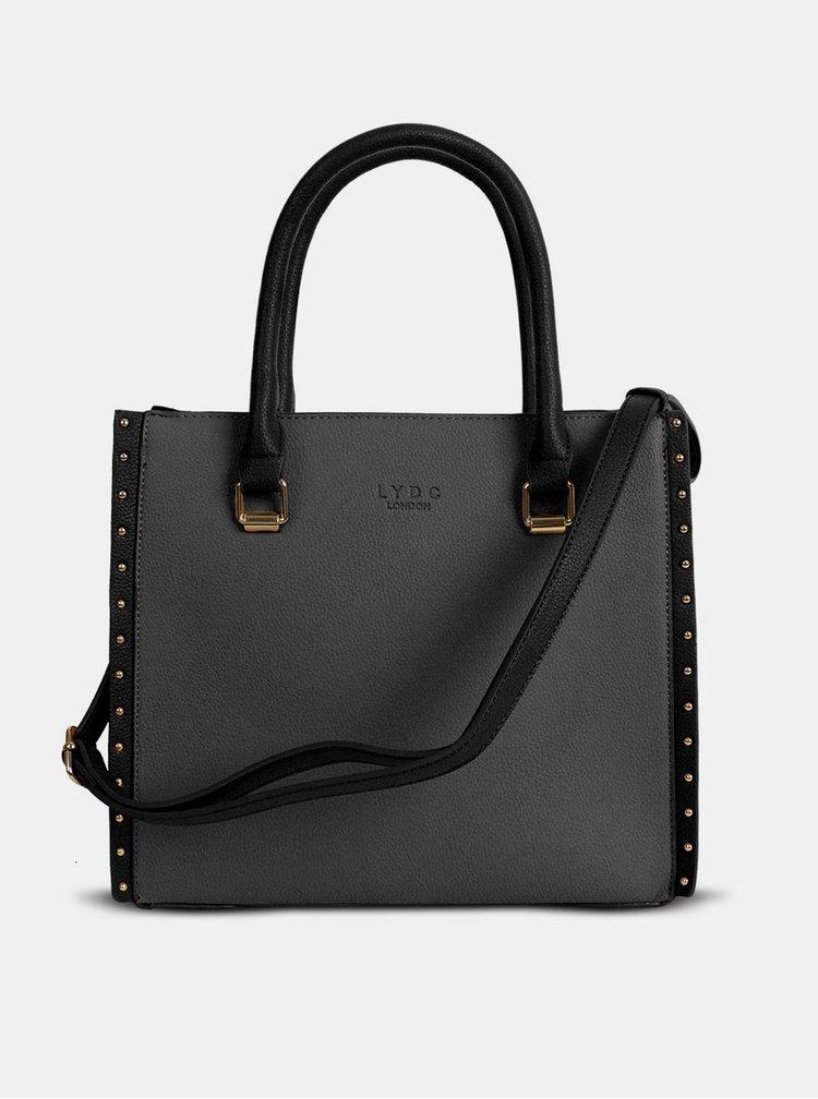Šedo-černá kabelka LYDC