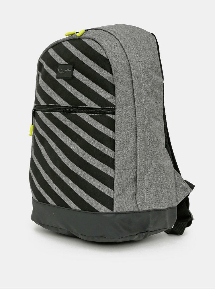 Šedý vzorovaný batoh LOAP