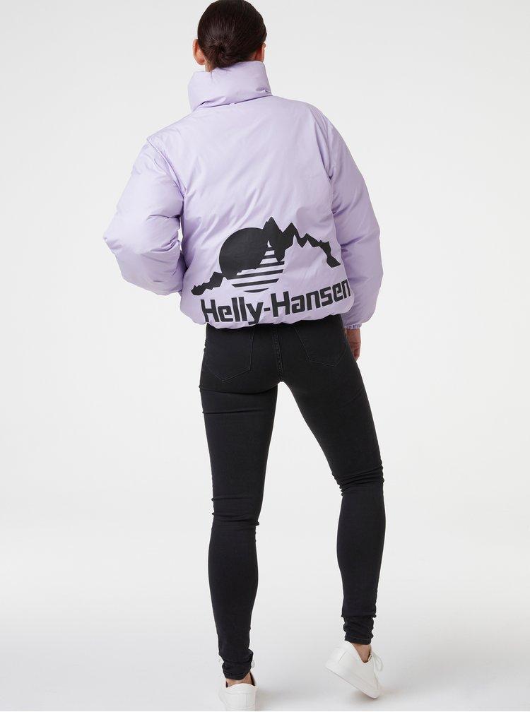 Fialovo-tyrkysová dámská zimní oboustranná bunda HELLY HANSEN