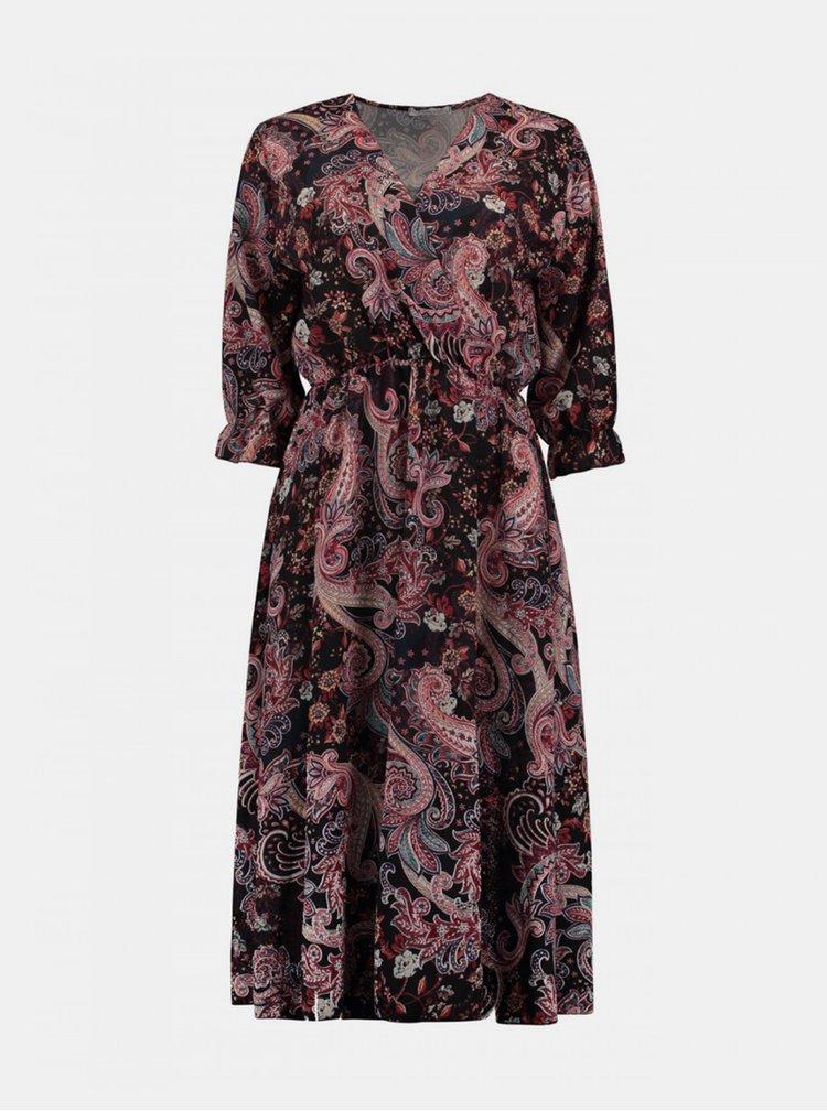 Černo-růžové vzorované šaty Haily´s