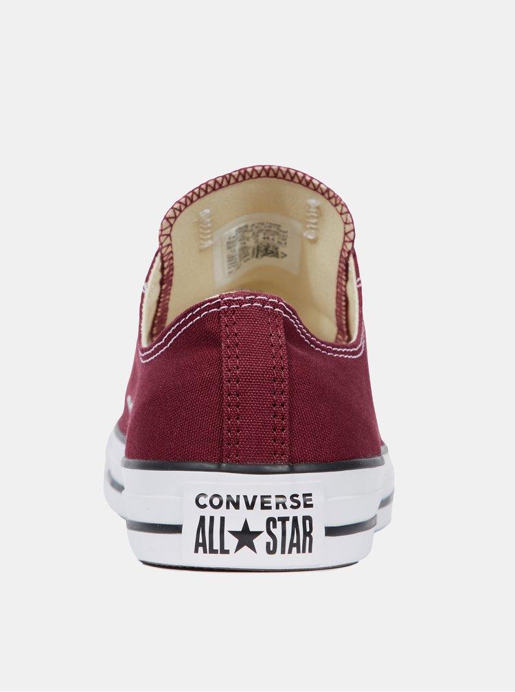 Vínové dámské tenisky Converse