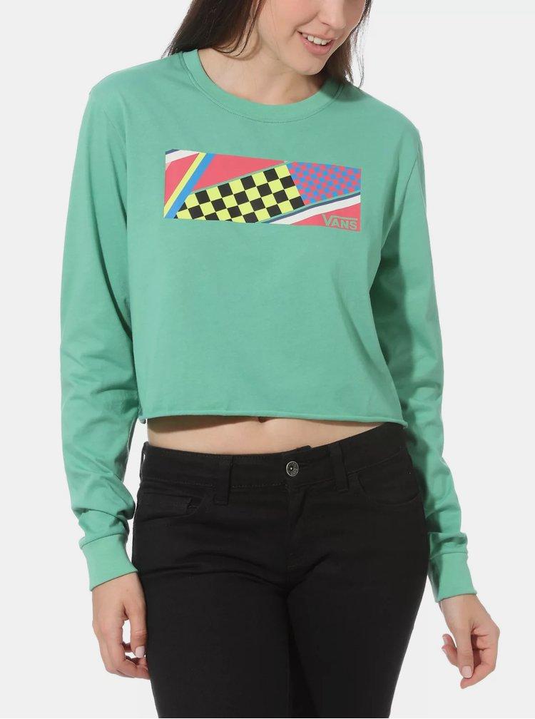 Světle zelené dámské tričko VANS