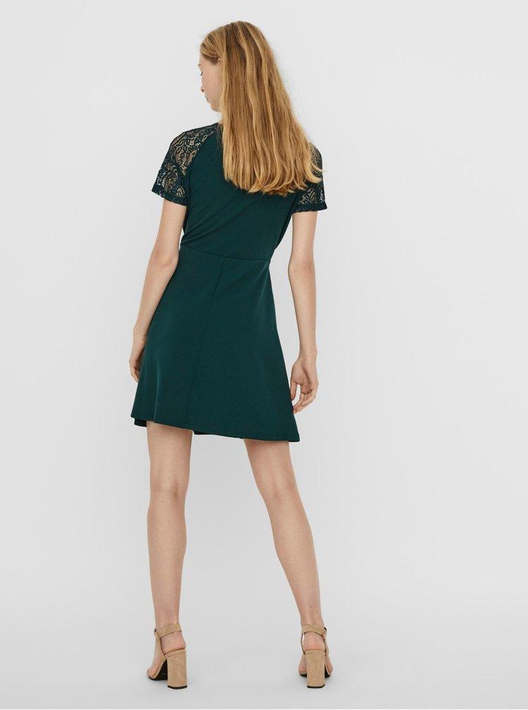 Tmavě zelené šaty VERO MODA Jasmine