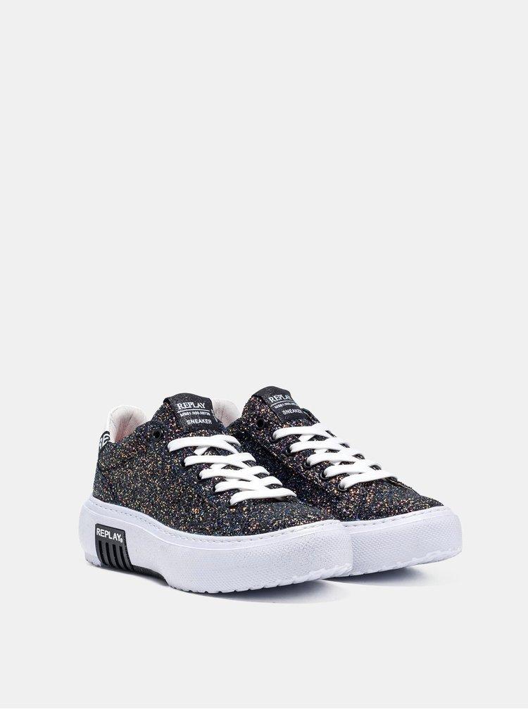 Pantofi sport si tenisi pentru femei Replay - negru