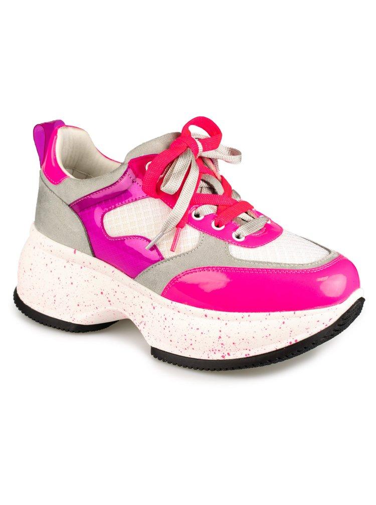 Gryxx bílo-růžové tenisky na platformě White Fushi