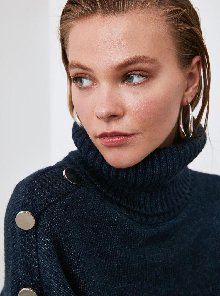 Tmavě modrý svetr Trendyol