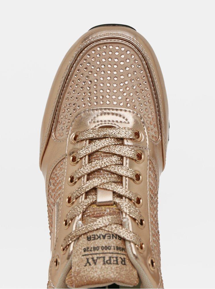 Dámské tenisky ve zlaté barvě Replay