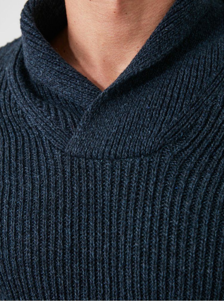 Pulovere pentru barbati Trendyol - albastru inchis