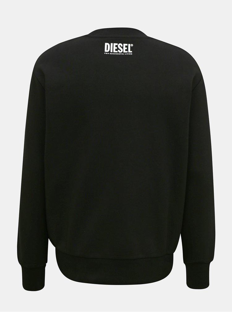 Pulovere fara gluga pentru barbati Diesel - negru