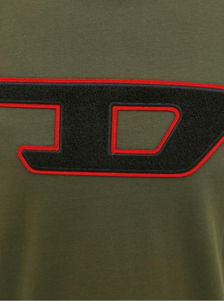 Khaki pánské tričko Diesel