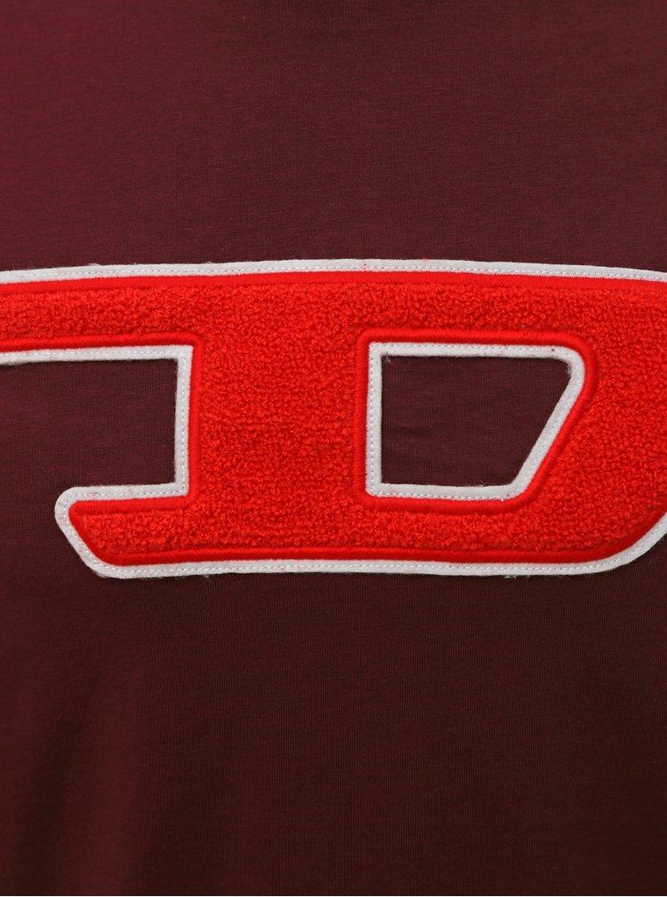 Tricouri pentru barbati Diesel - bordo