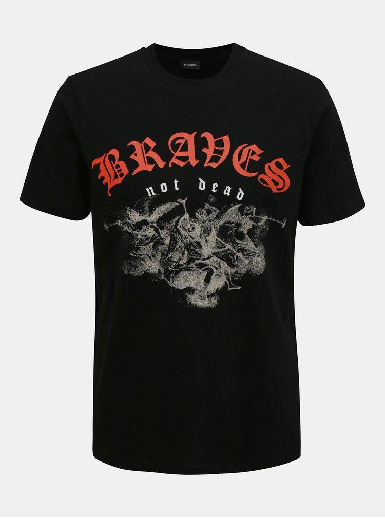 Tricouri pentru barbati Diesel - negru