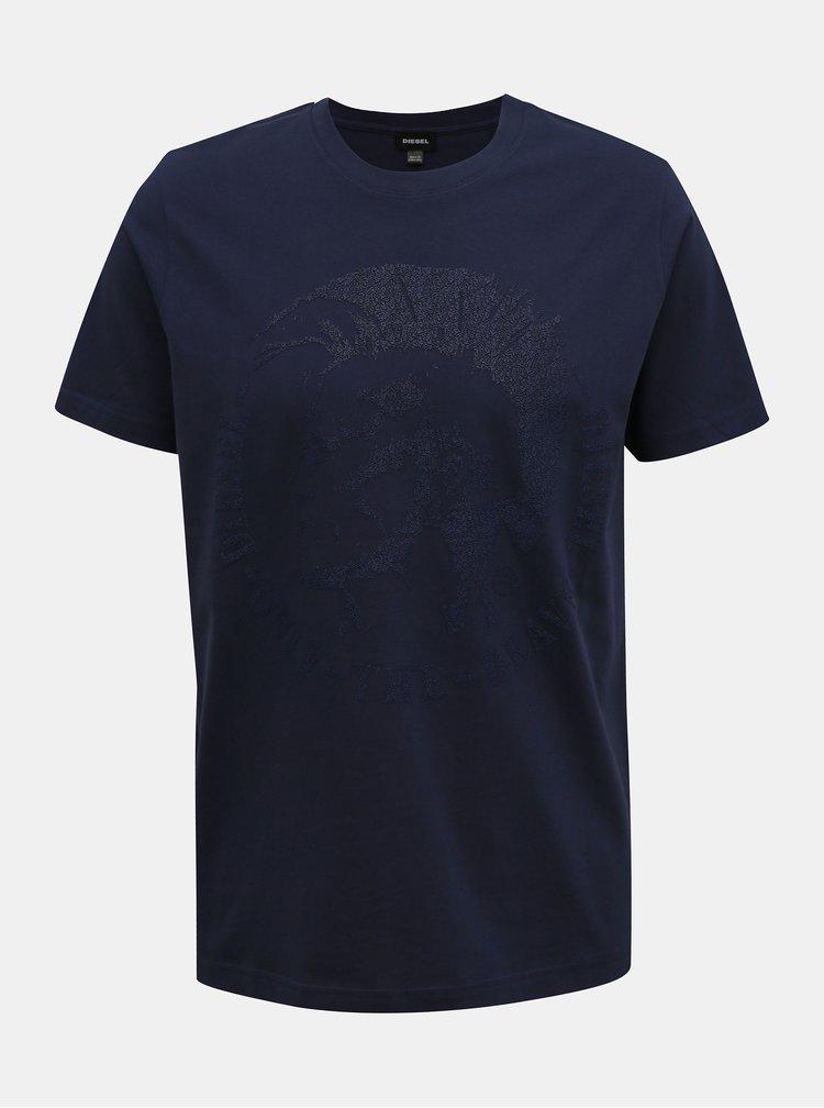Tmavě modré pánské tričko Diesel