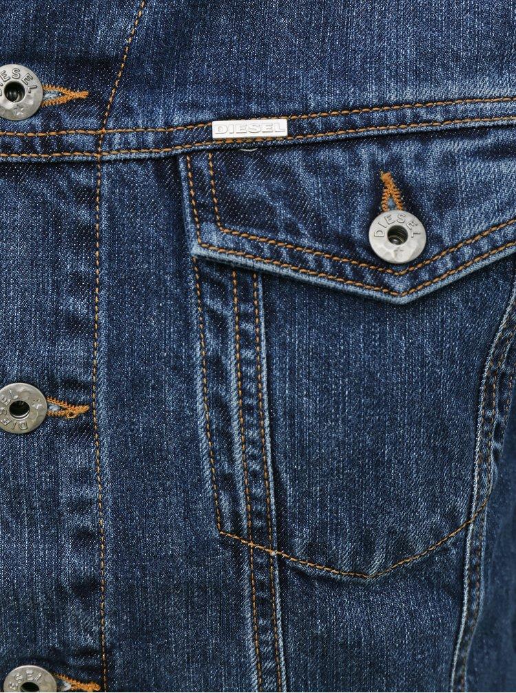 Tmavě modrá pánská džínová bunda Diesel