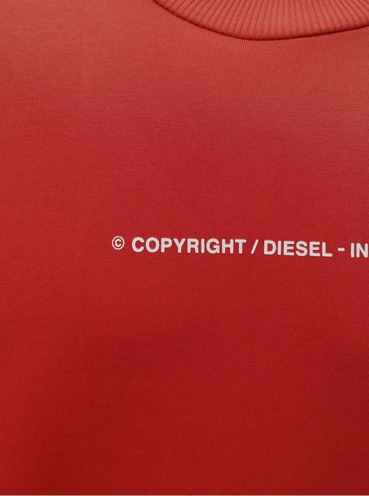 Červená pánská mikina Diesel
