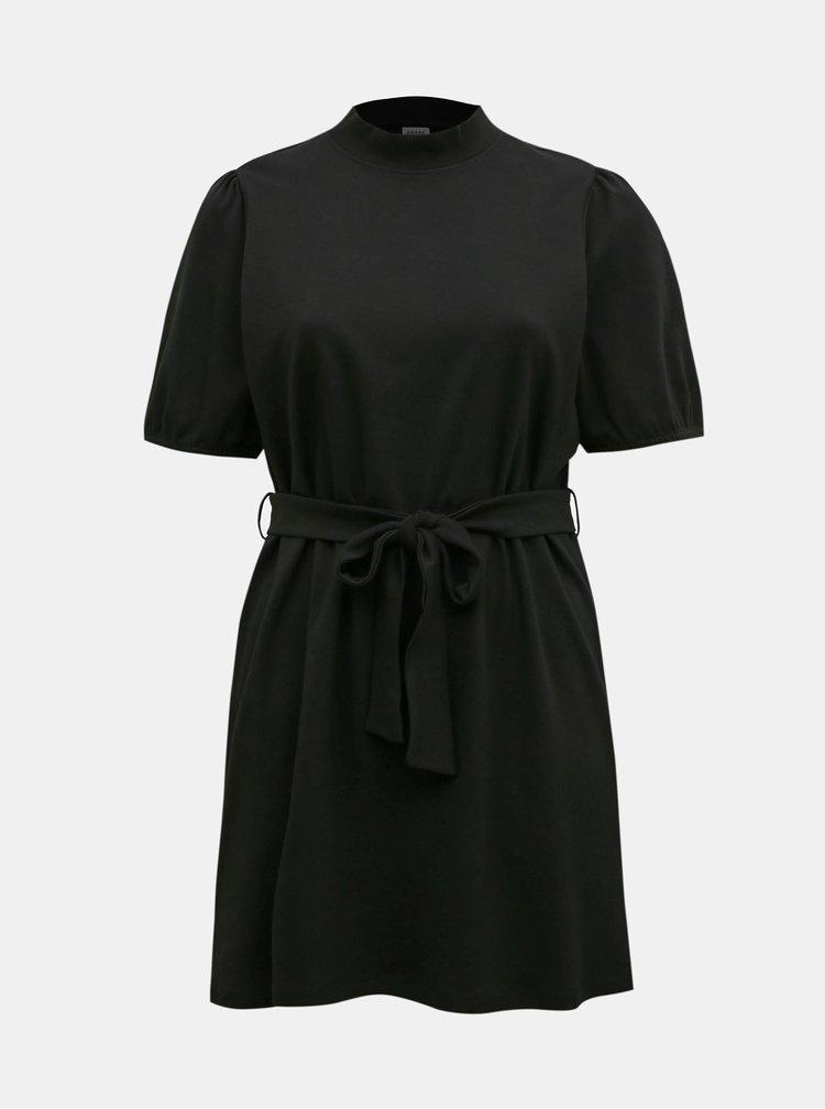Černé šaty se zavazováním VERO MODA CURVE Forest