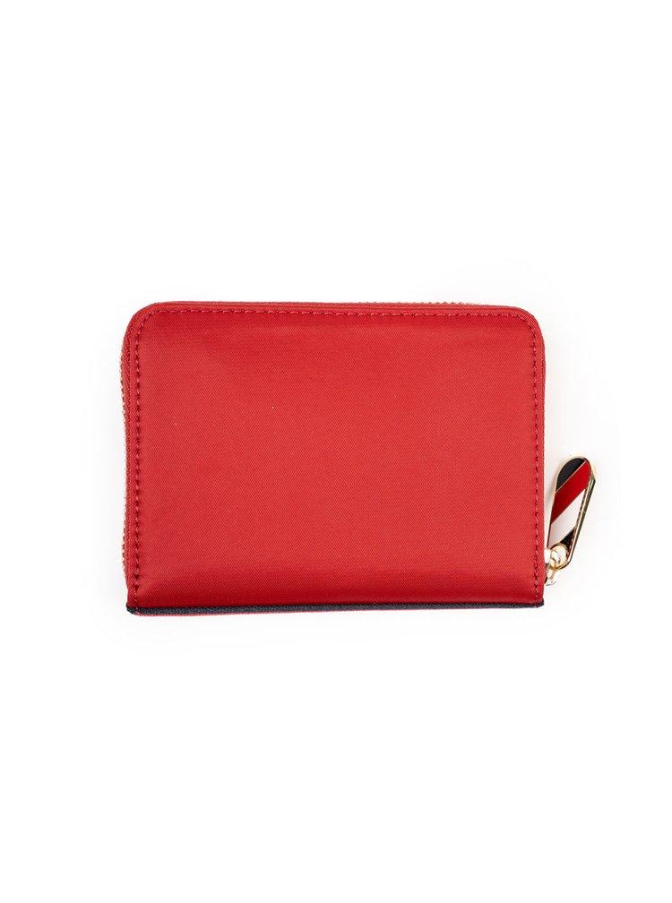 Tommy Hilfiger červená malá peněženka Poppy Med Za Corp Arizona Red