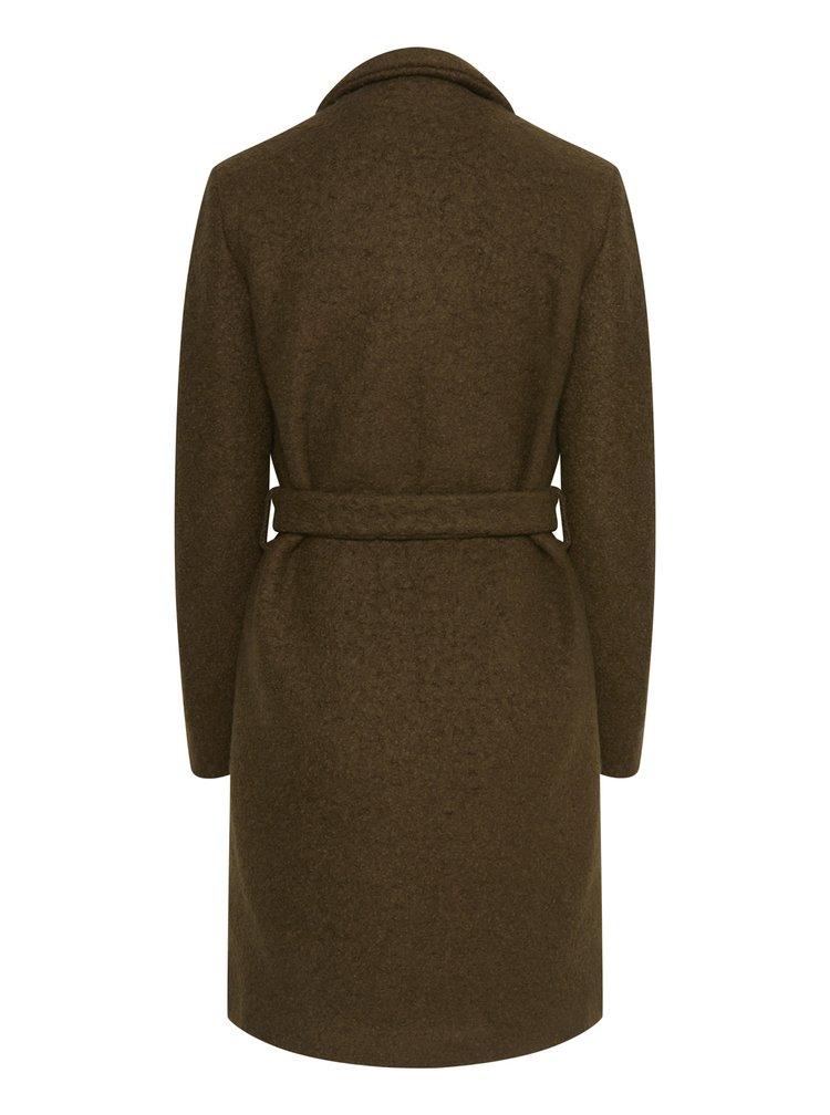 Ichi khaki kabát Ihstipa s vázáním