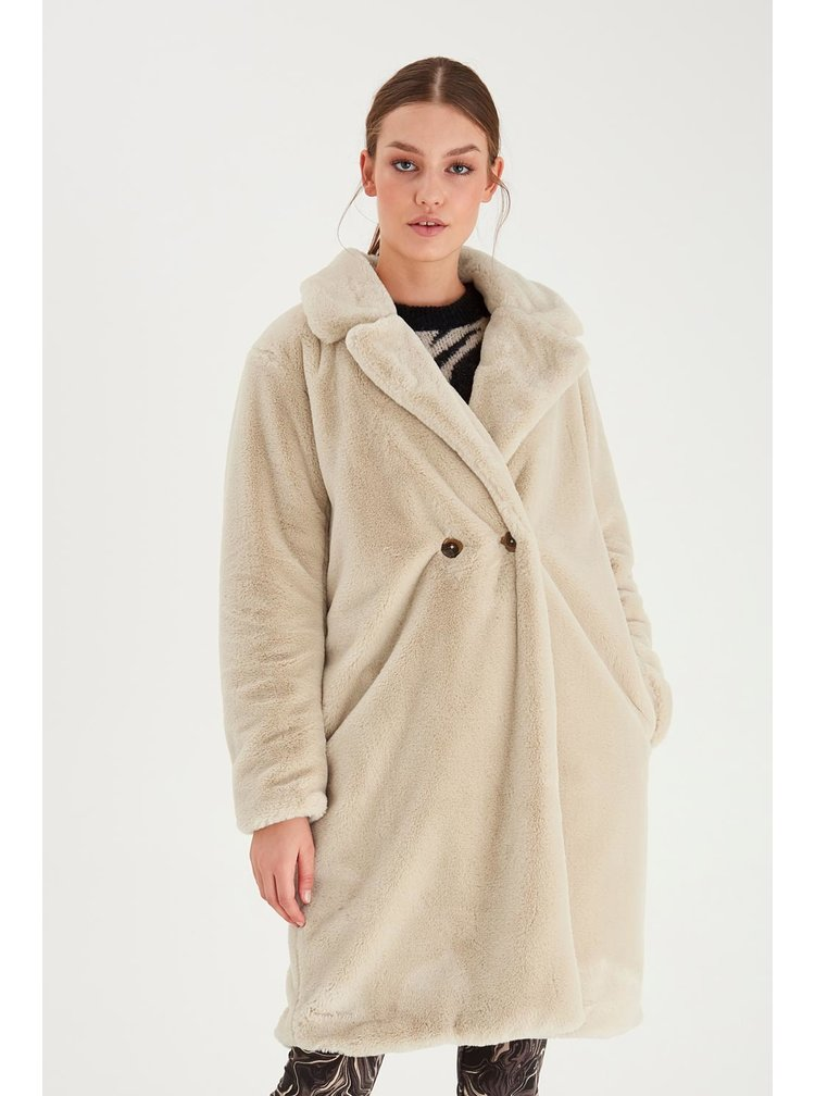 Ichi béžový zimní kabát Ihhaya JA Tapioca
