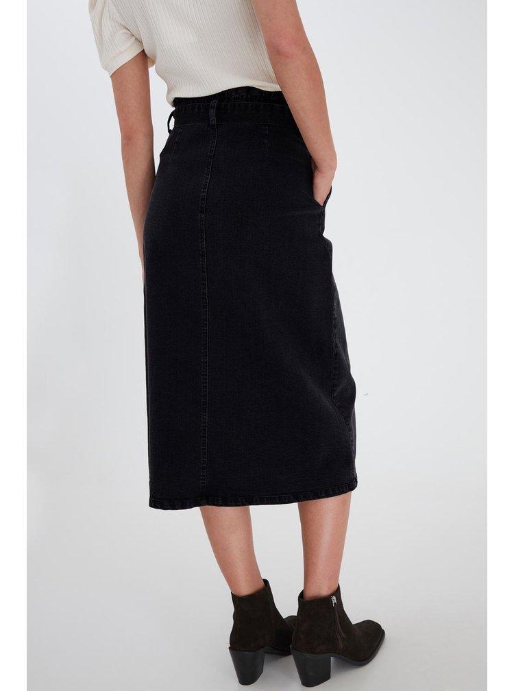 Ichi černá sukně Iholina Washed black