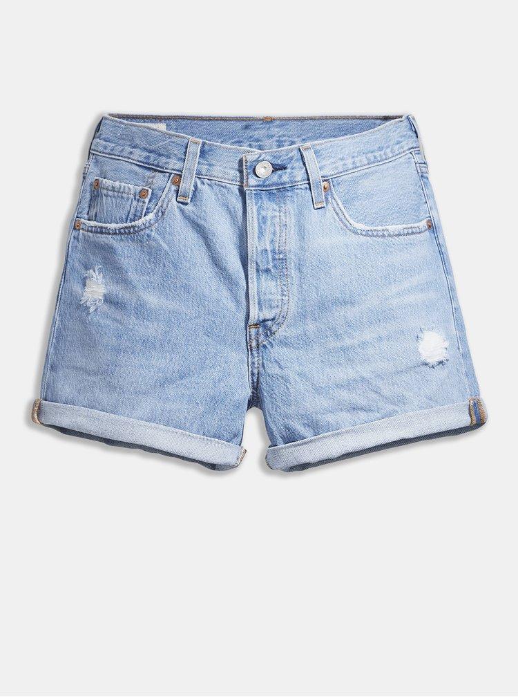 Pantaloni scurti  pentru femei Levi's® - albastru deschis
