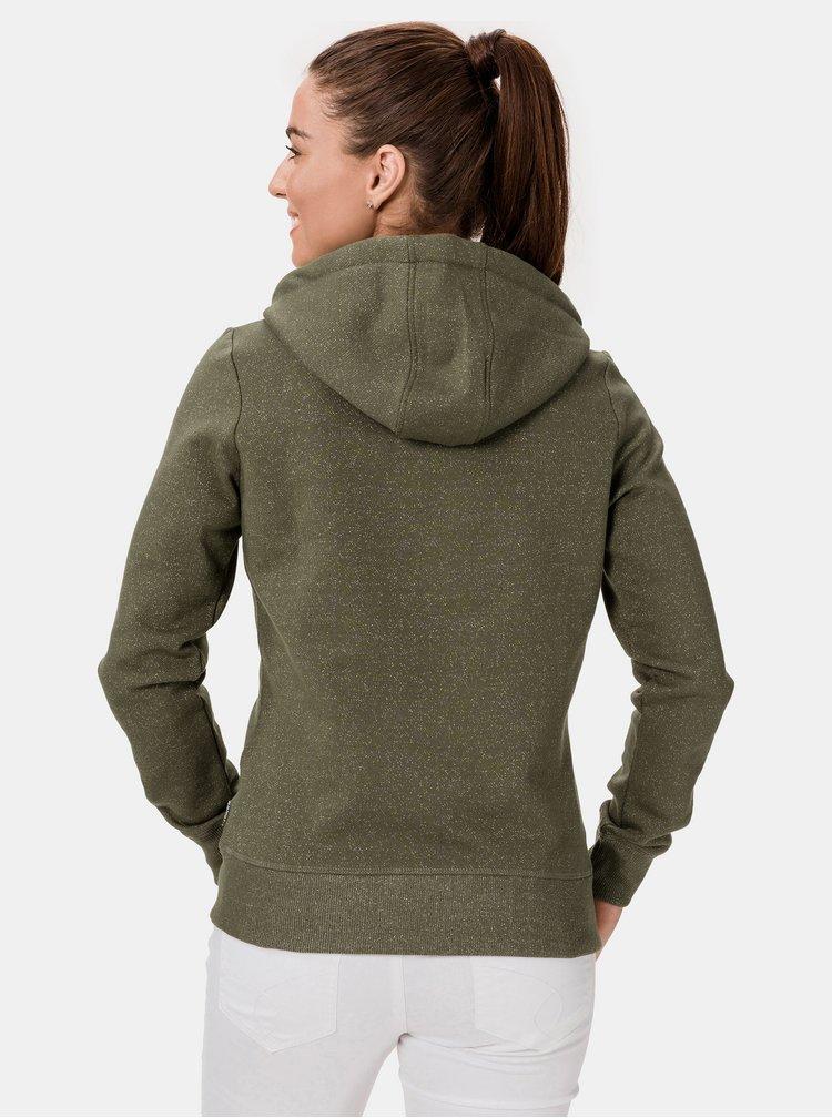 Zelená dámská mikina s kapucí SAM 73