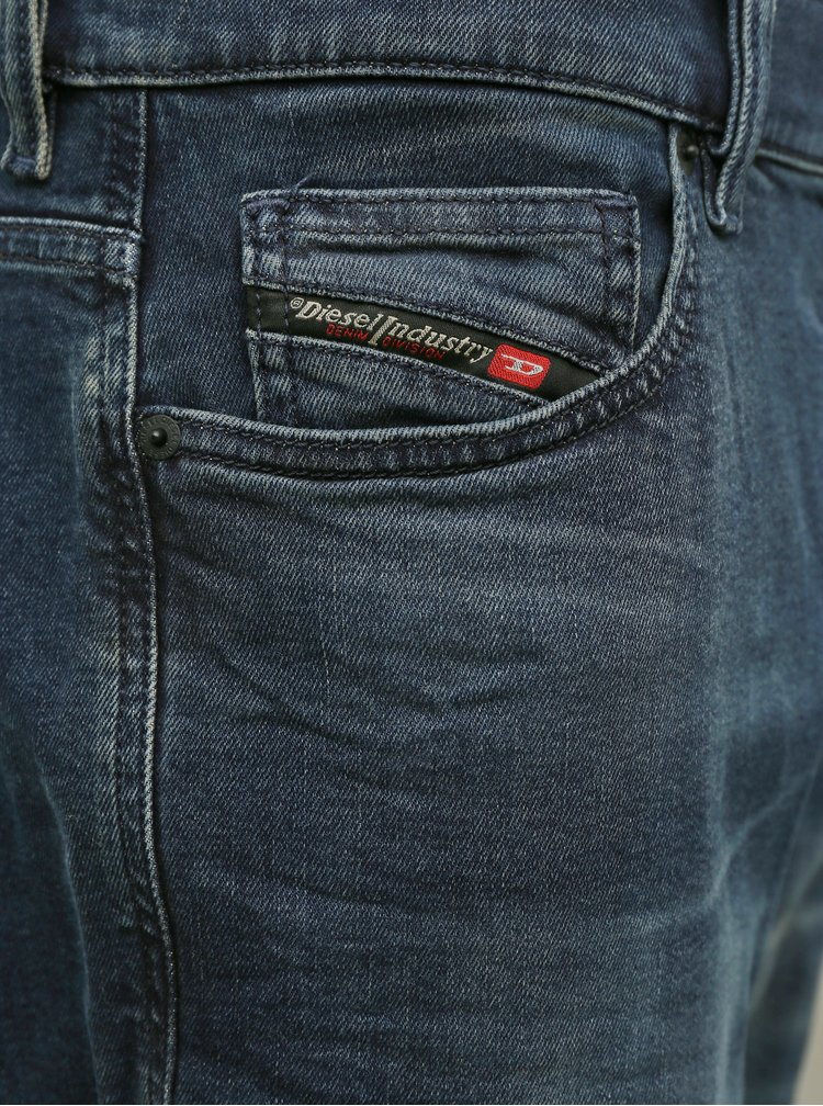 Modré pánské slim fit džíny Diesel