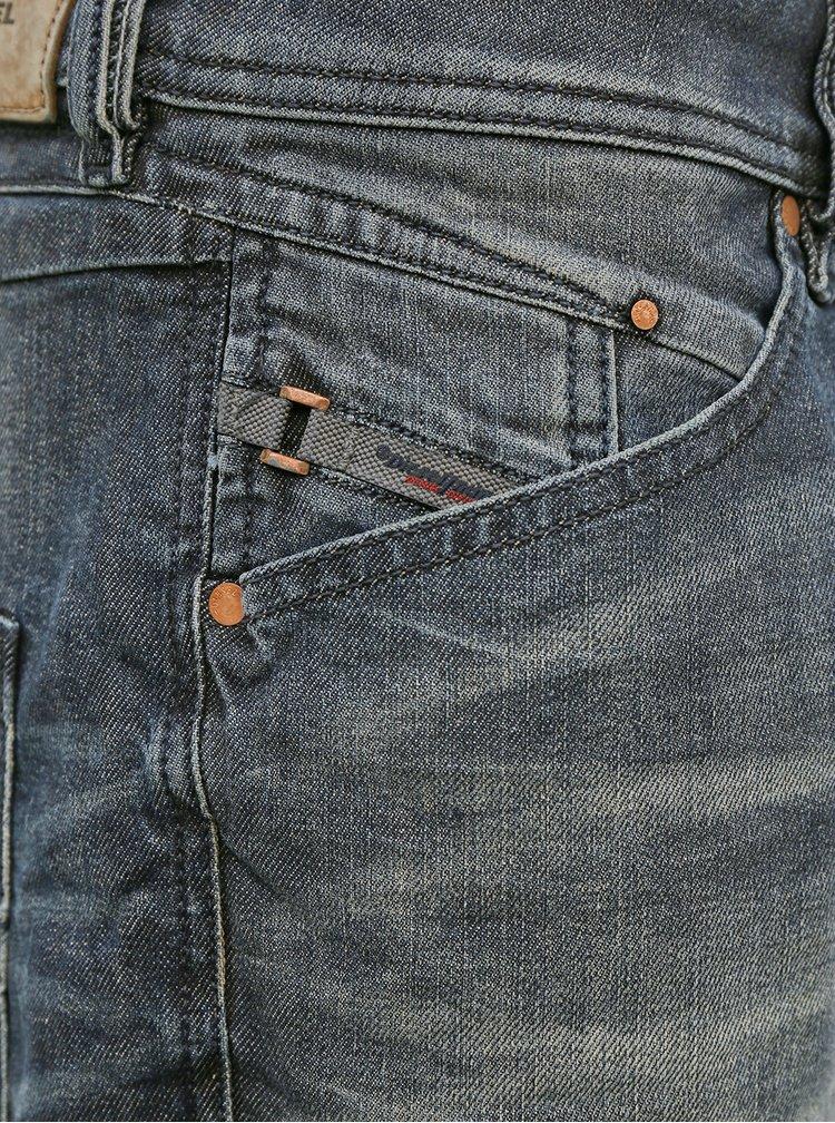 Šedé pánské slim fit džíny Diesel