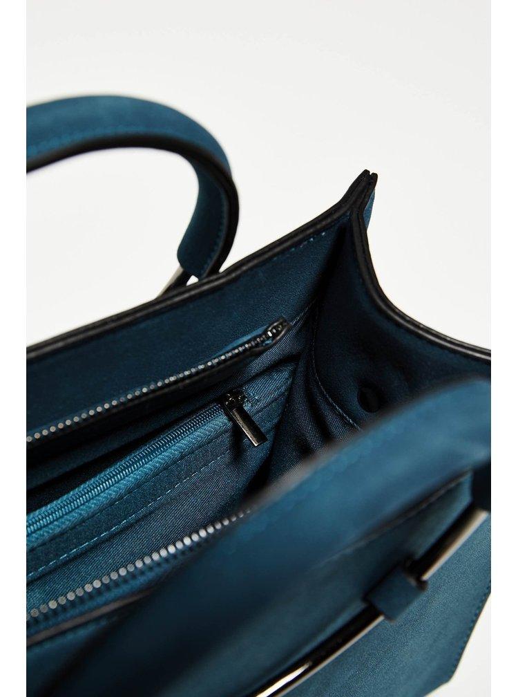 Moodo modrá crossbody kabelka s kruhovými držadly