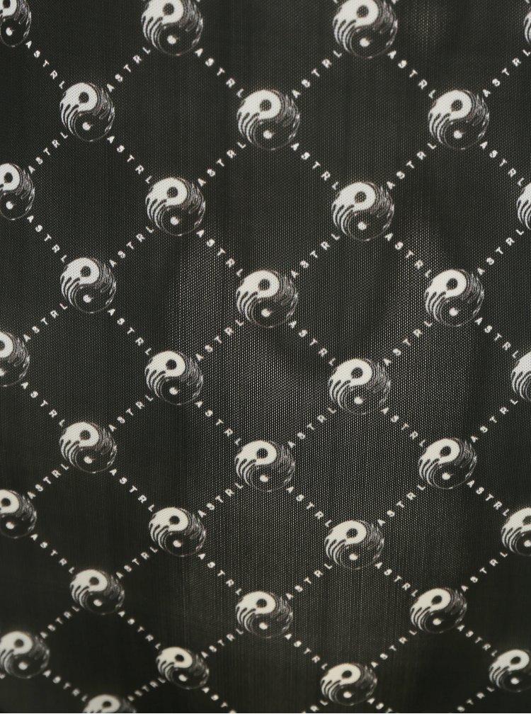 Černé vzorované průsvitné body Diesel