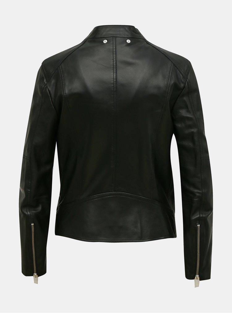 Jachete din piele naturala si sintetica pentru femei Diesel - negru