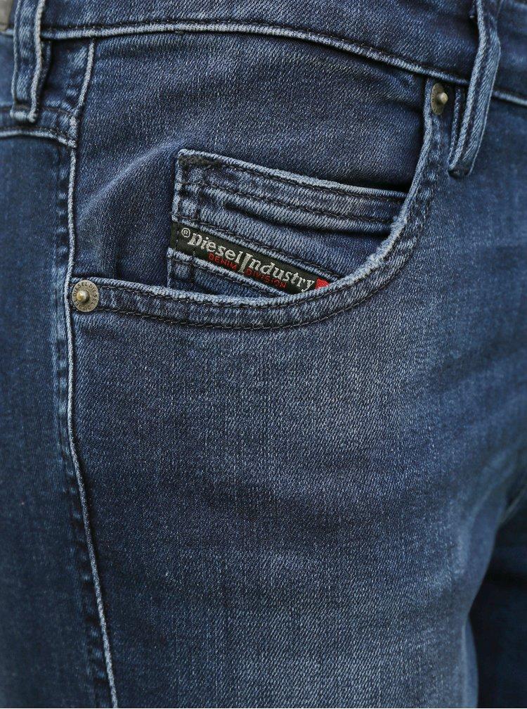 Tmavě modré dámské slim fit džíny Diesel