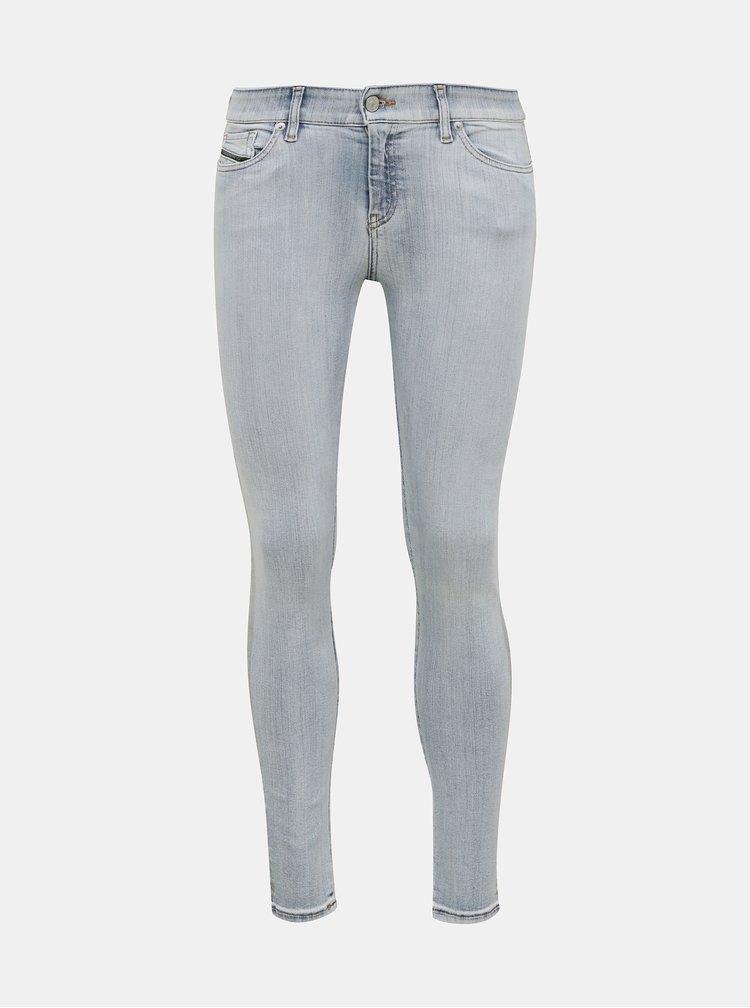 Světle modré dámské skinny fit džíny Diesel