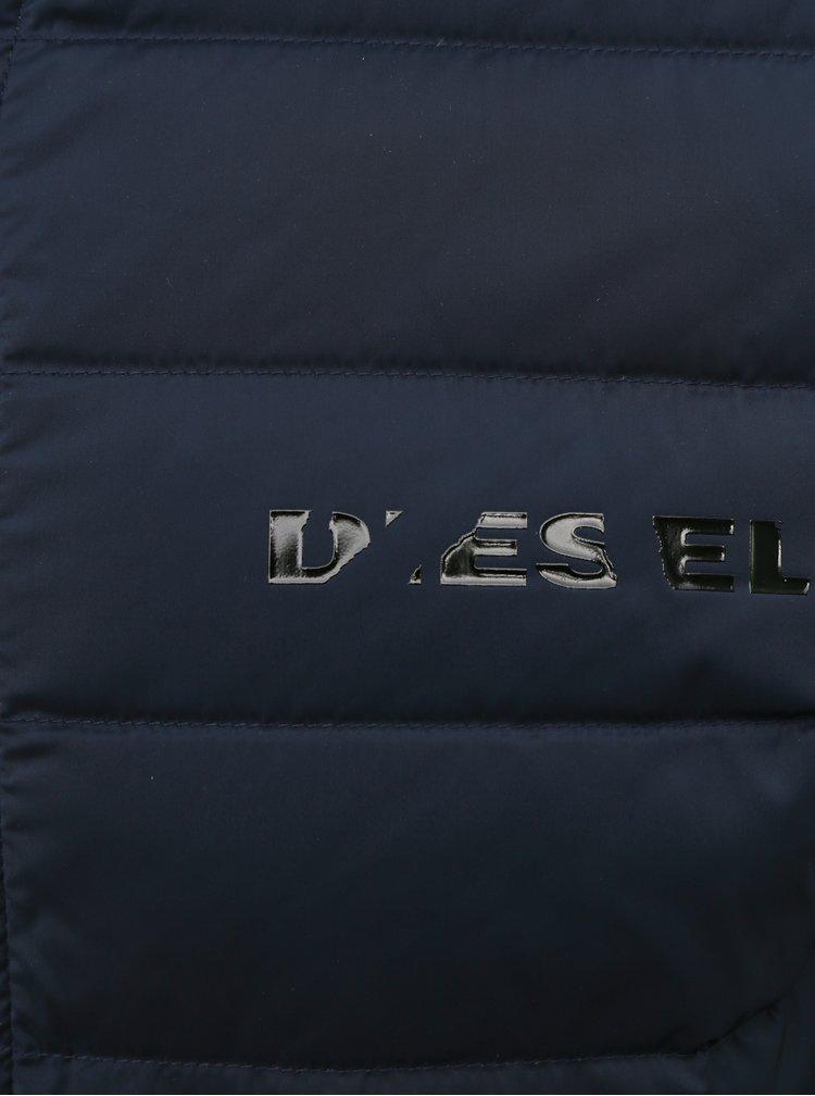 Tmavě modrá pánská zimní bunda Diesel