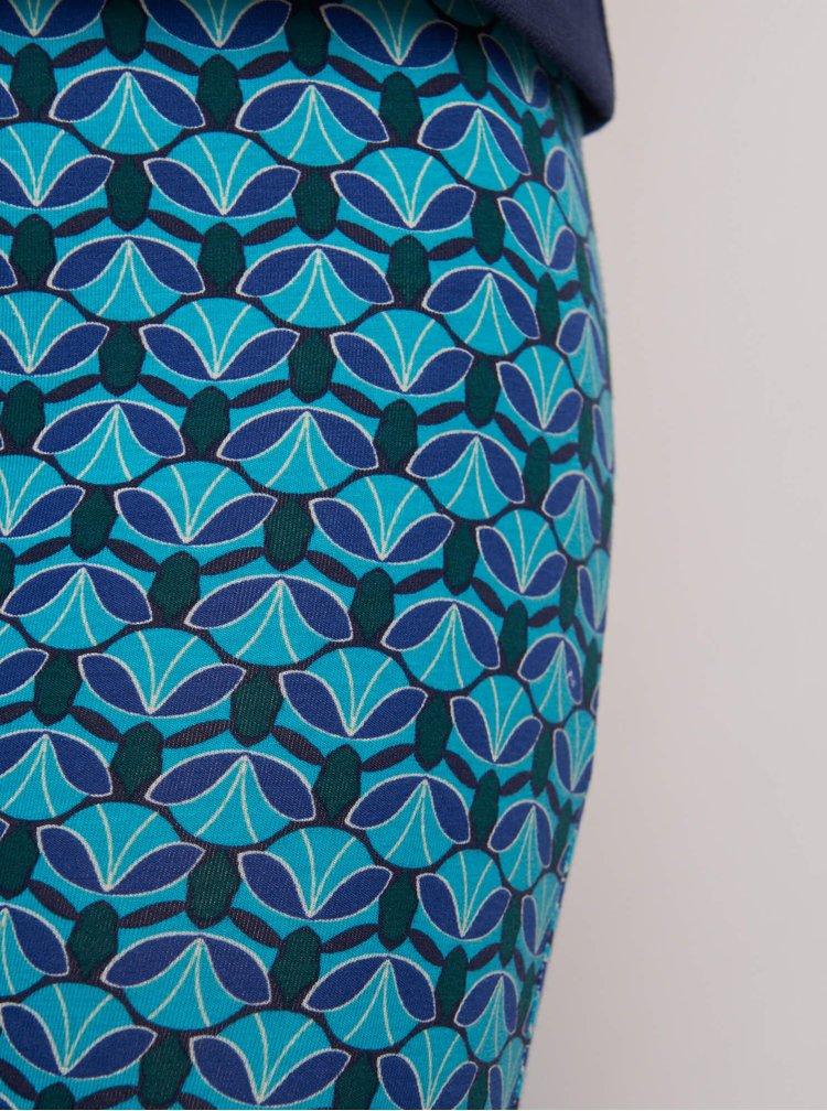 Modré vzorované legíny Tranquillo