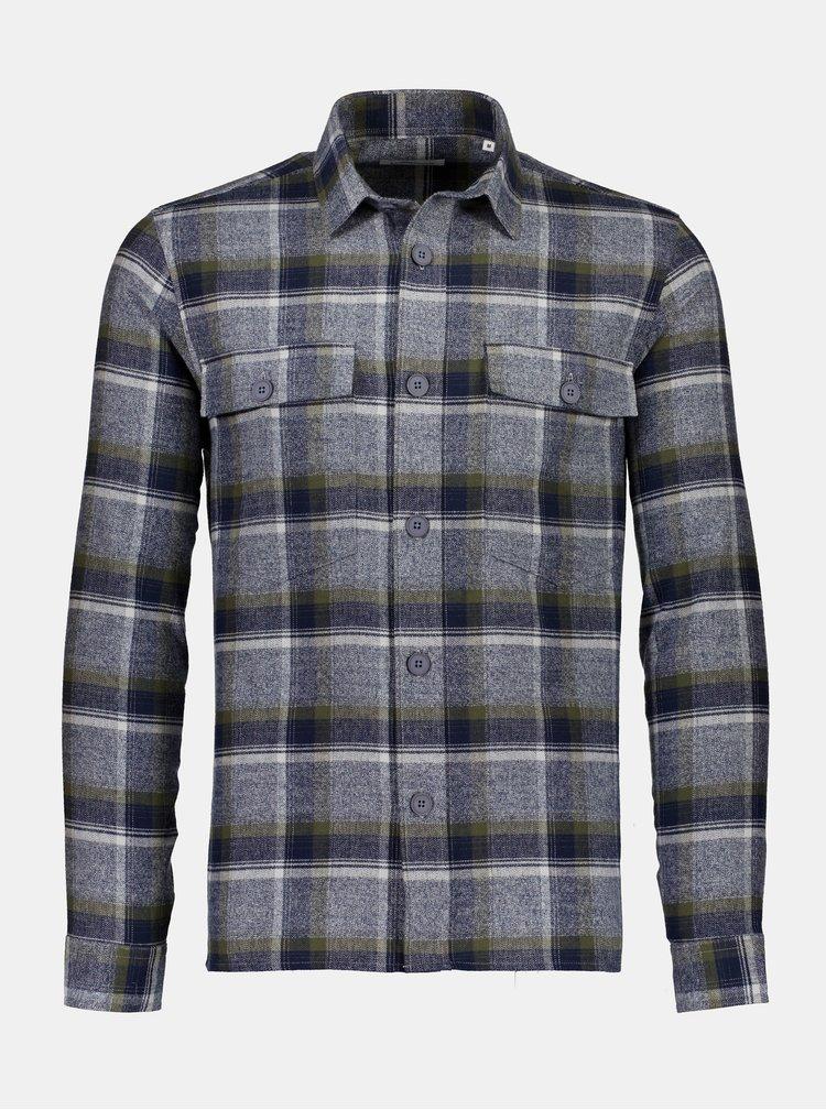 Modro-šedá kostkovaná košile Lindbergh