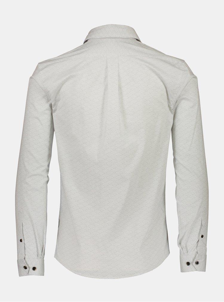 Bílá košile s drobným vzorem Lindbergh