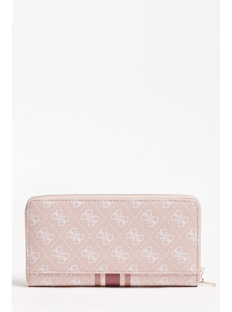 Guess pudrová peněženka Jensen 4G Logo Wallet
