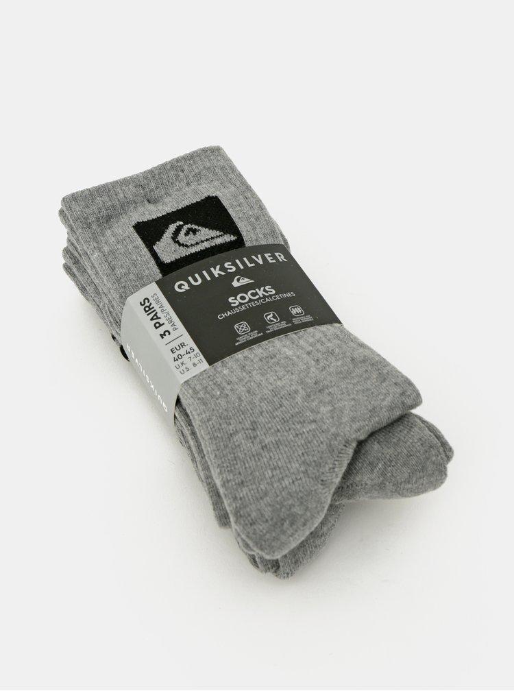 Sada tří párů šedých ponožek Quiksilver