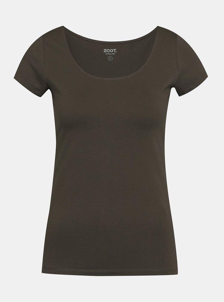 Khaki dámské basic tričko ZOOT Baseline Nora