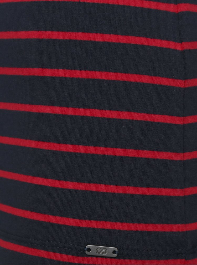 Tmavě modré dámské pruhované basic tričko ZOOT Baseline Aliki