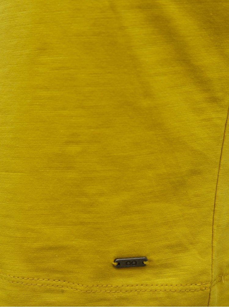Žluté basic šaty se zavazováním ZOOT Baseline Darina