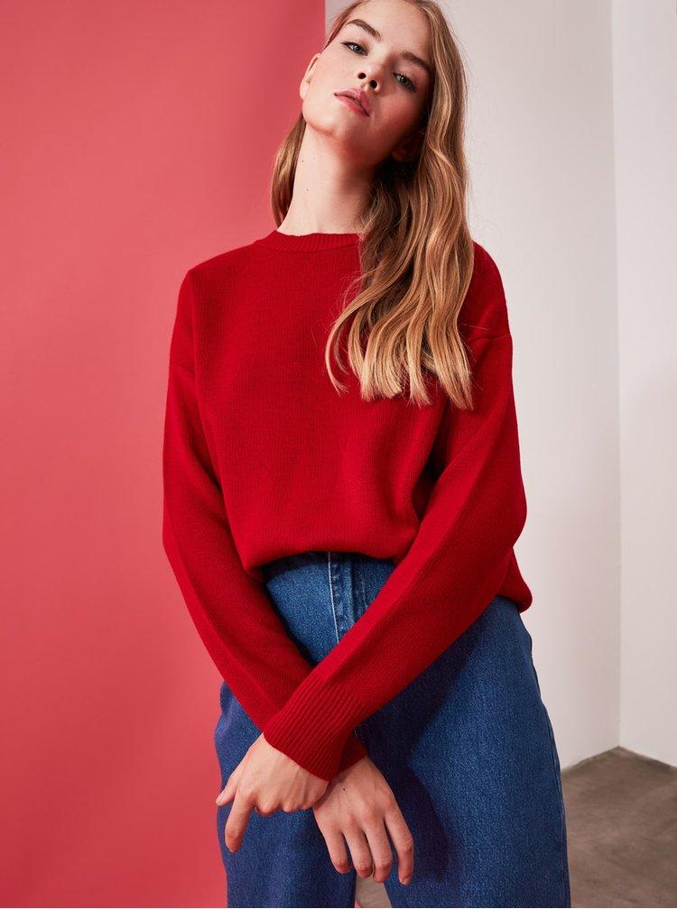 Pulovere pentru femei Trendyol - rosu