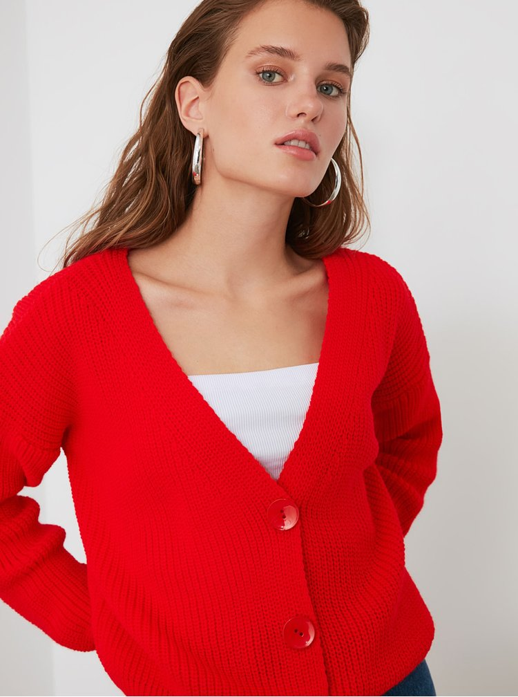 Cardigane pentru femei Trendyol - rosu