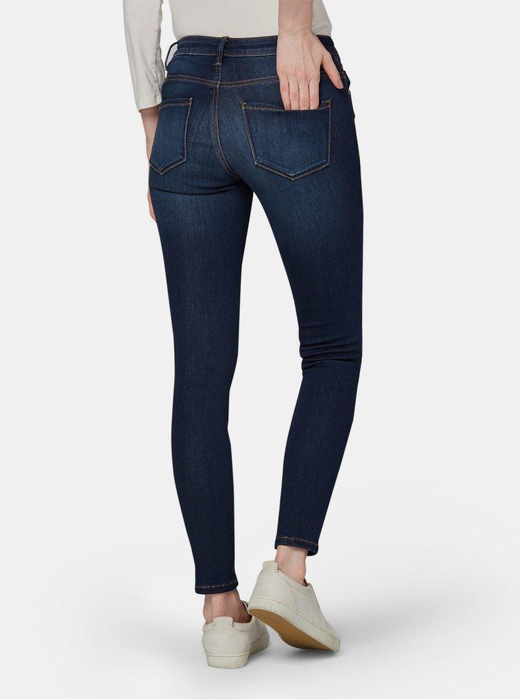 Tmavě modré dámské skinny fit džíny Tom Tailor