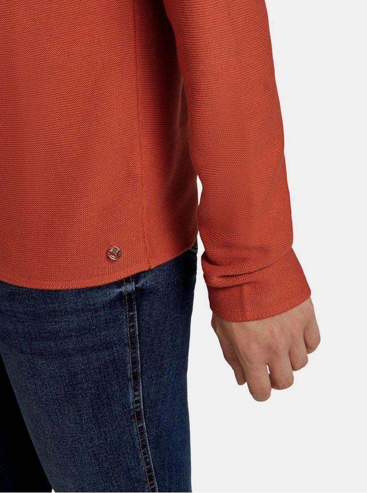 Pulovere pentru femei Tom Tailor Denim - caramiziu