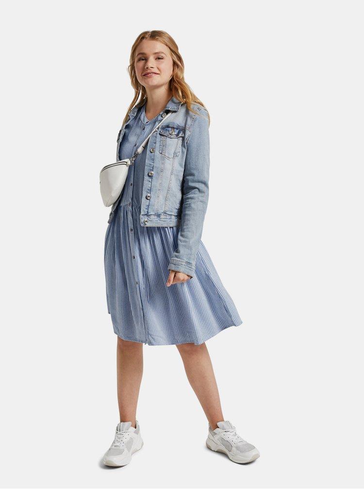 Modré dámské pruhované šaty Tom Tailor Denim