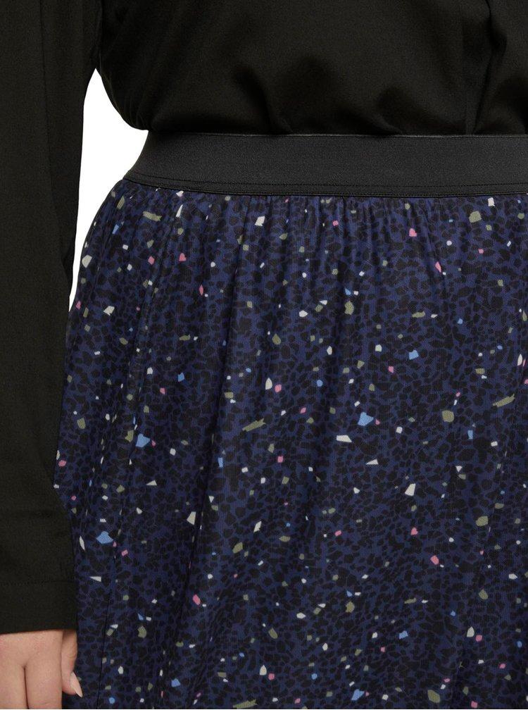 Tmavě modrá dámská vzorovaná sukně My True Me Tom Tailor
