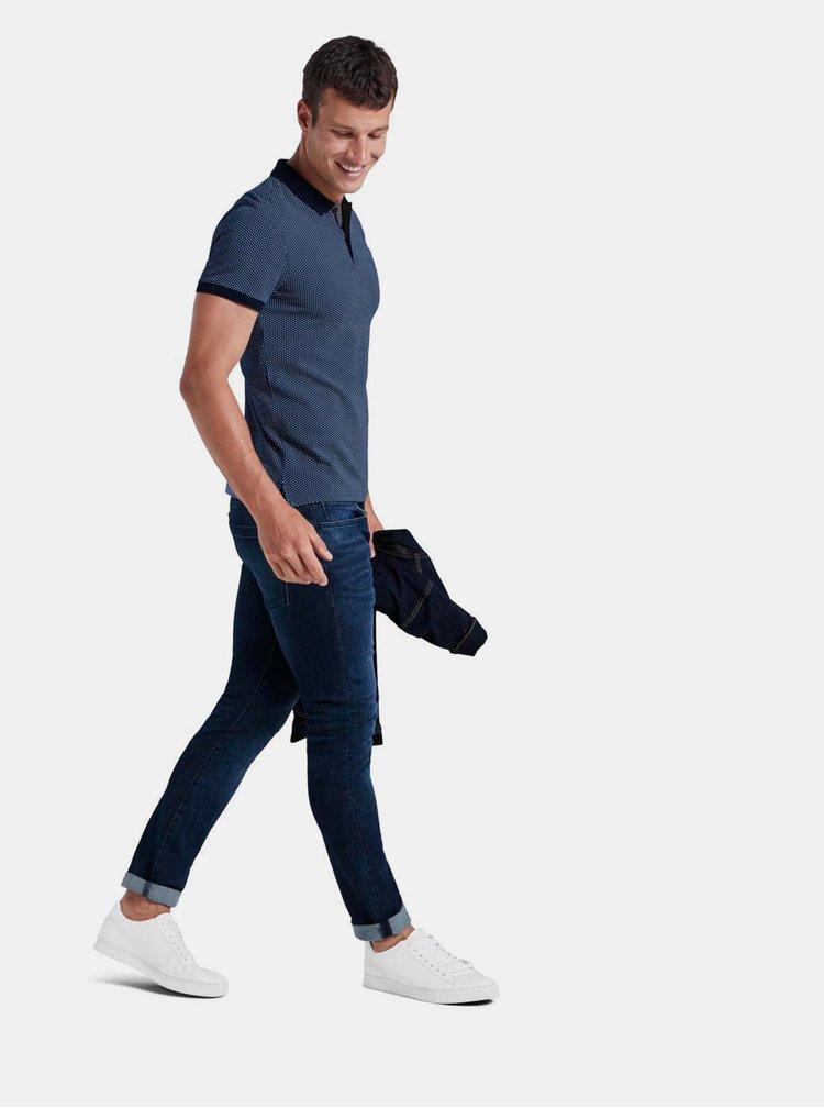 Tricouri polo pentru barbati Tom Tailor - albastru inchis