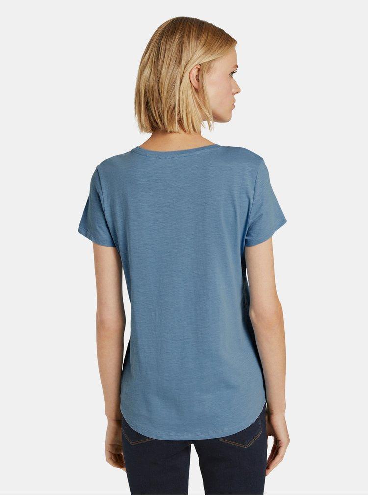 Tricouri pentru femei Tom Tailor Denim - albastru